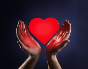 Hands with heart - loving yourself