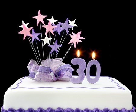 cake with 30 candles